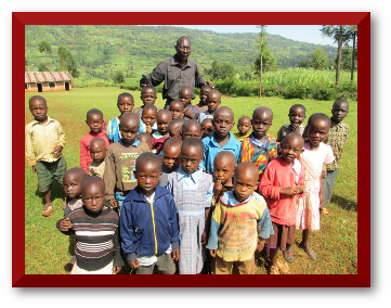 Some of the children who will be entrusted to our care once the home is completed.